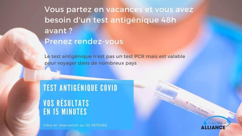 test covid antigenique